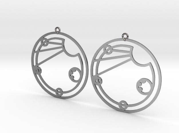 Elsie - Earrings - Series 1 in Fine Detail Polished Silver