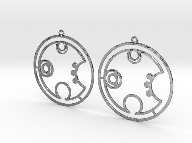 Brooke - Earrings - Series 1 in Fine Detail Polished Silver