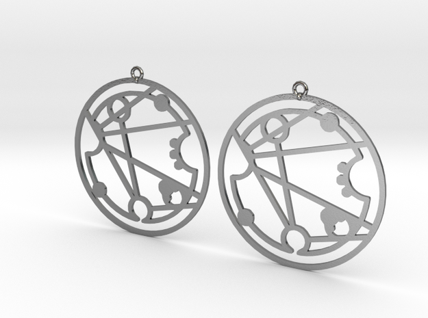 Florence - Earrings - Series 1 in Polished Silver