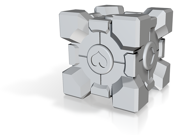 Weighted Companion Cube 3d printed