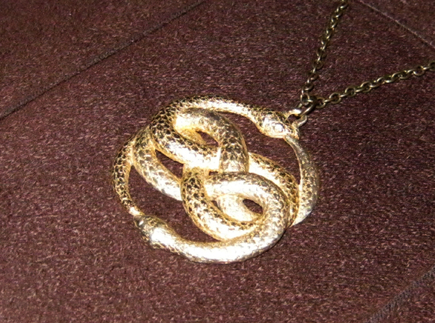 3D-Printed AURYN Medallion 3d printed Gold-plated AURYN