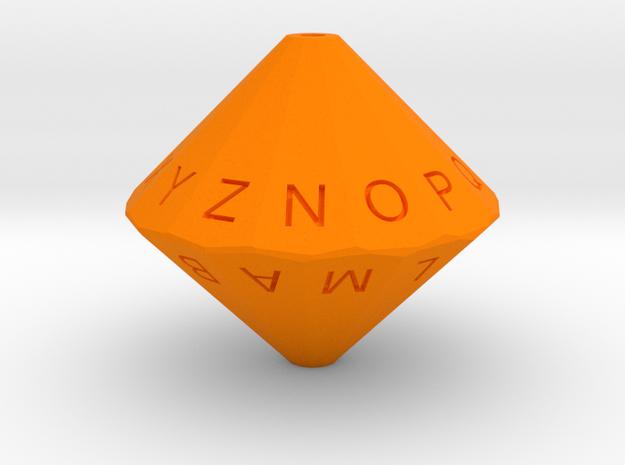 Alphabet Die 3d printed