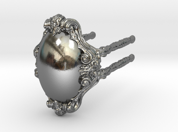 Ring 02 - L in Polished Silver