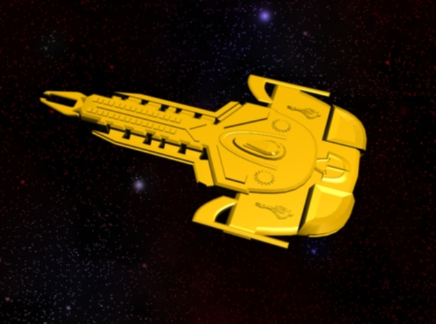 Cardassian Revok Class Destroyer 3d printed