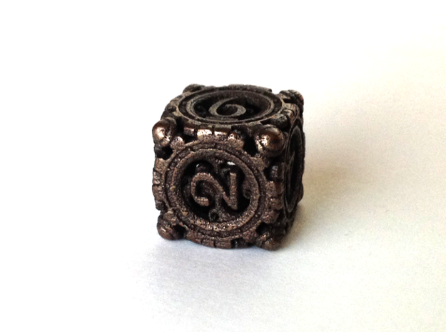 13mm Steampunk D6 3d printed