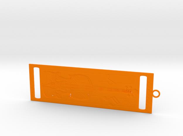 Bookmark in Orange Processed Versatile Plastic