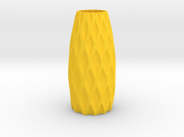 S-Vase in Yellow Processed Versatile Plastic