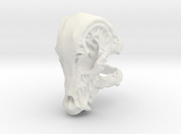 Beastskull_L in White Strong & Flexible