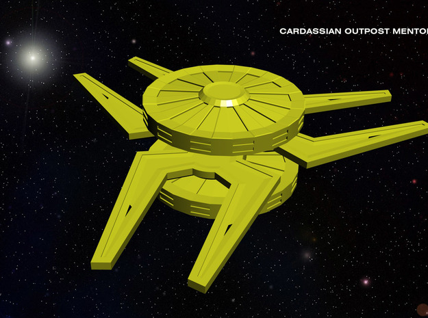 Cardassian Outpost Mentok Nor 3d printed