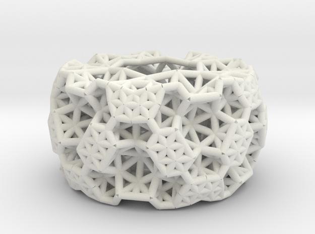 thick bracelet in White Natural Versatile Plastic