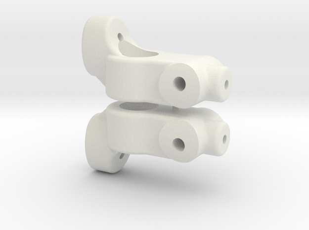 TC5 REAR HUB CARRIER - 5 DEGREE - INCH in White Natural Versatile Plastic