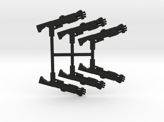 Shell Barrage Shotgun Pack in Black Natural Versatile Plastic