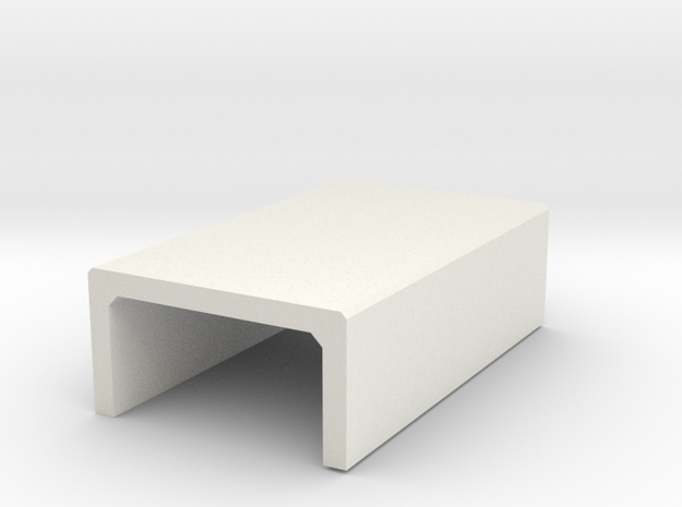 N/H0 Box Culvert Half Height (size 1) in White Natural Versatile Plastic