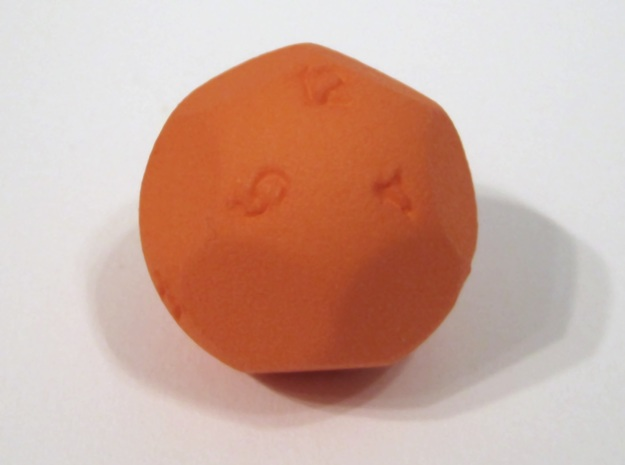 Alt D12 Sphere Dice in Orange Processed Versatile Plastic