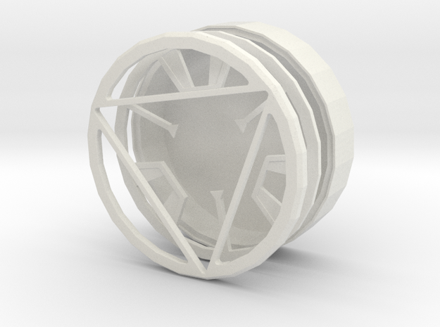 Iron man arc reactor without core in White Natural Versatile Plastic