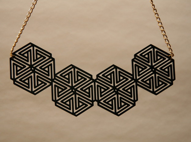 Hexagonal Triangle Necklace