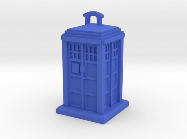 Police Box Pendant in Blue Processed Versatile Plastic