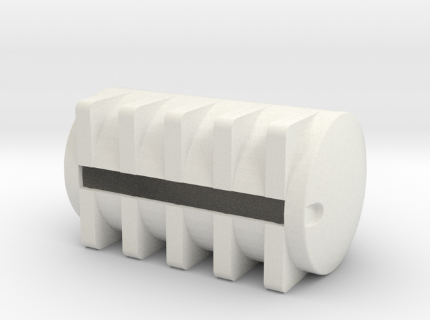 1/64 S scale 6025 gal. Horizontal Leg Tank in White Natural Versatile Plastic