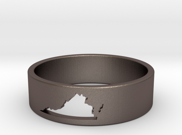 Virginia Ring (Size 9) in Polished Bronzed Silver Steel