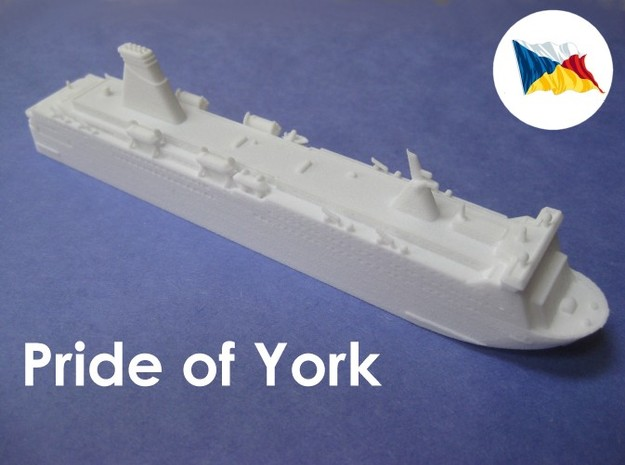MS Pride of York (1:1200) in White Strong & Flexible: 1:1200
