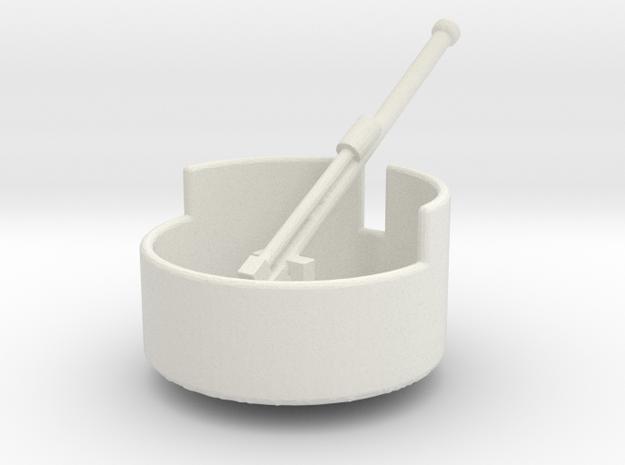 Turret Artillery, light, Europe #1 (n-scale) in White Natural Versatile Plastic