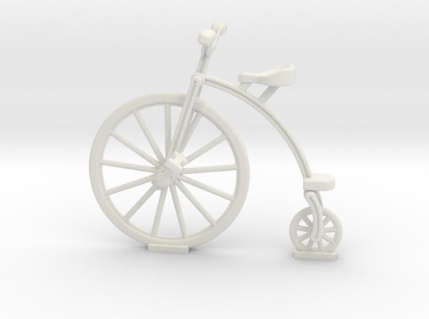 Old Bike in White Natural Versatile Plastic