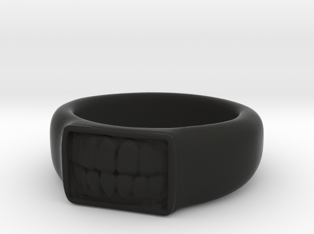 Tooth Ring in Black Strong & Flexible