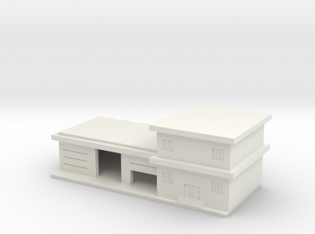 1/285 Fire Station in White Natural Versatile Plastic