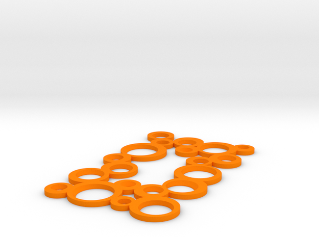 Decorative Switch plate in Orange Strong & Flexible Polished
