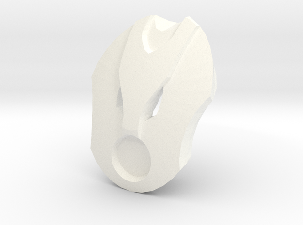 Kanohi Taputu - Mask of Mechanics (Bionicle) in White Strong & Flexible Polished