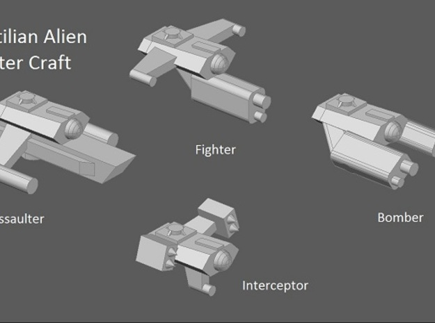 10 Reptilian fighters 3d printed Faction preview