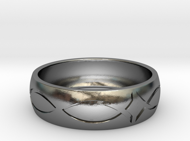 Size 7 Ring engraved in Polished Silver