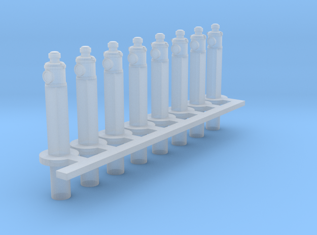 Clearance Posts with Lamps HO X 8 in Frosted Ultra Detail