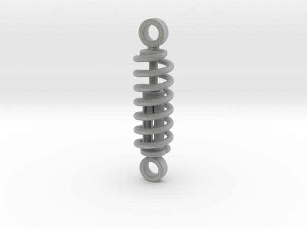 working spring shock absorber  V1 60%  in Metallic Plastic
