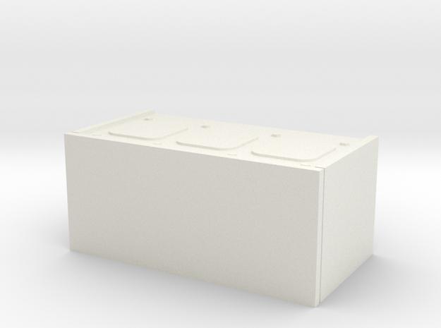 1/16 scale Firefly Radio Box in White Natural Versatile Plastic
