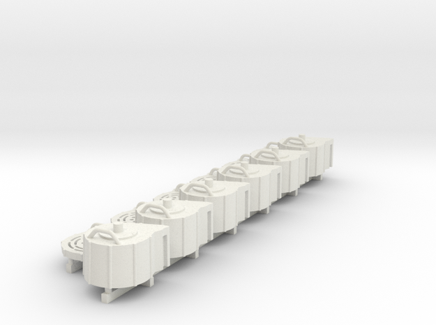 1:18 scale 20mm Cannon Magazine Spares in White Natural Versatile Plastic