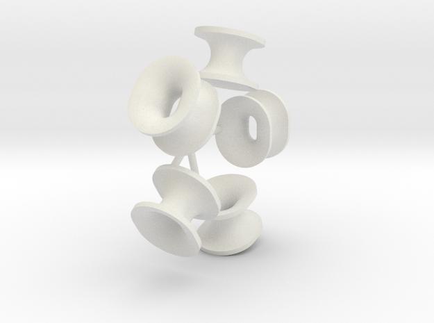 Panama Fairlead 250% (5 pcs.) in White Natural Versatile Plastic