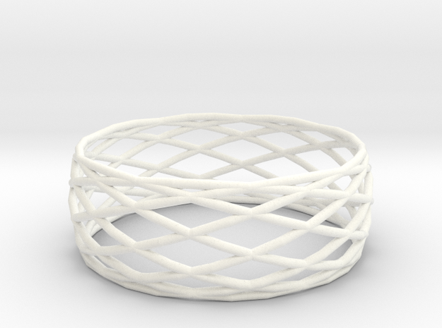 Small bangle in White Strong & Flexible Polished