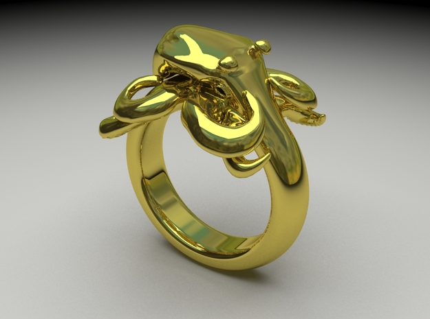 Octopus Ring S 6.5 us 3d printed