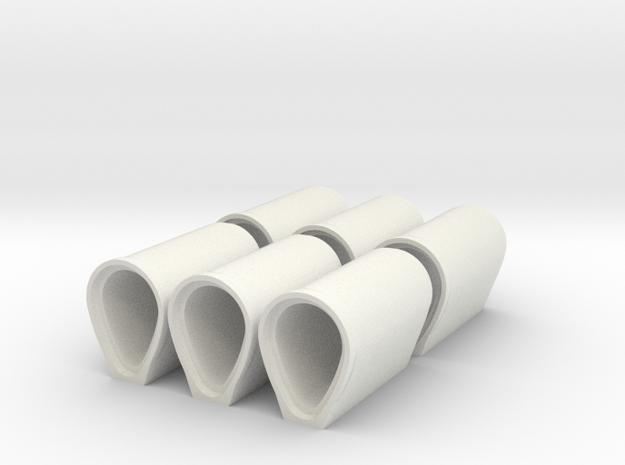 1:50 Eiprofilrohr DN 900/1350 in White Natural Versatile Plastic