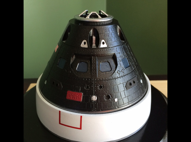 Orion Crew Module 1:48 in Smooth Fine Detail Plastic