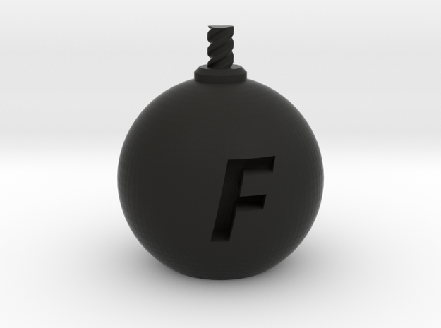 F-Bomb - XL  in Black Strong & Flexible