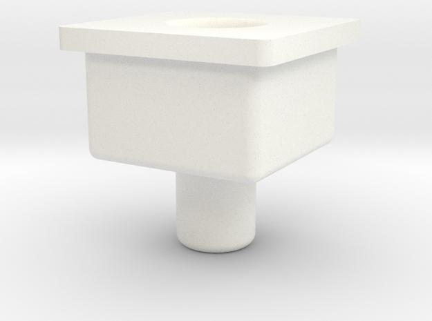 Ordin Troll Combiner Socket Peg in White Processed Versatile Plastic