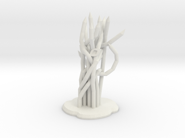 Trellis in White Natural Versatile Plastic