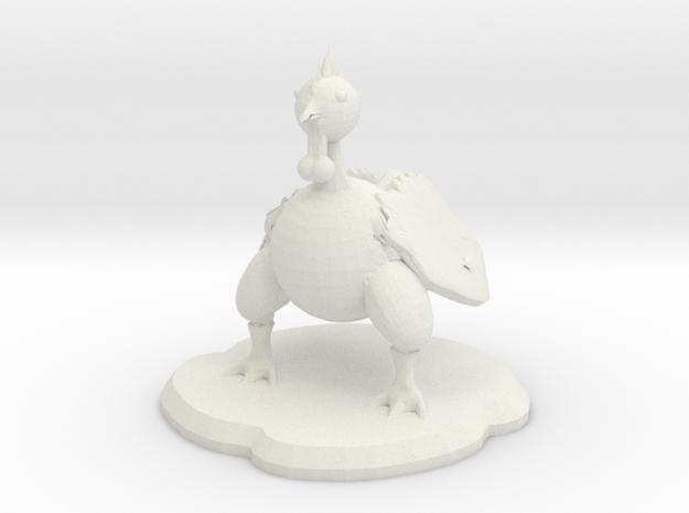 Roscoa Figure in White Natural Versatile Plastic