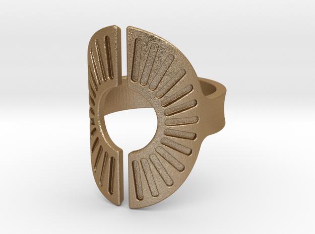 Sun Ring 19mm in Matte Gold Steel