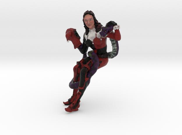 Comic Harlequin Portrait 6in 3d printed