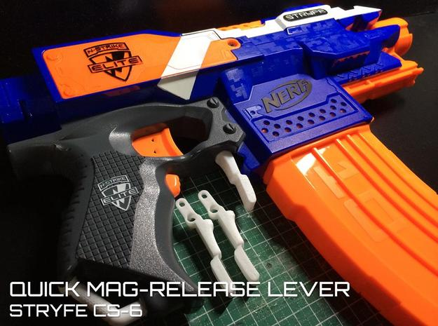 Quick Mag-release (Nerf Stryfe)  in White Natural Versatile Plastic