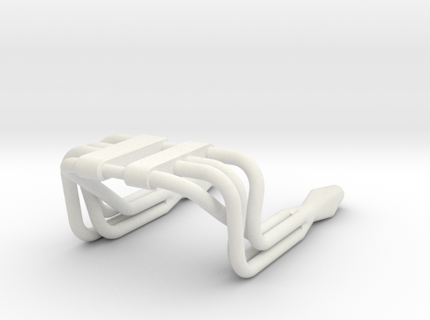 Exhaust Pipes in White Natural Versatile Plastic