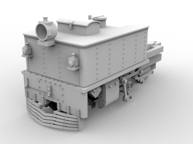 O16.5 G42 Front Unit(1:43 Scale) in White Strong & Flexible